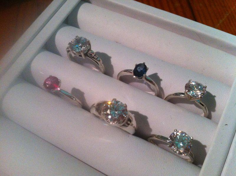 sterling silver, promise ring, alternative engagement ring, swarovski crystal, cubic zirconia, london blue topaz, pink topaz